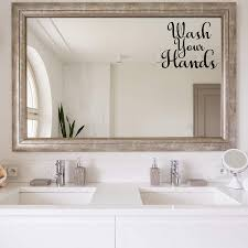 Vwaq Wash Your Hands Vinyl Decal For Mirror And Walls Bathroom Decor R