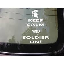 Keep Calm And Soldier On 2a Sticker Vinyl Decal Laptop 8 Sticker C487 Walmart Com Walmart Com