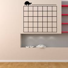 Turtle Monthly Calendar Wall Decal