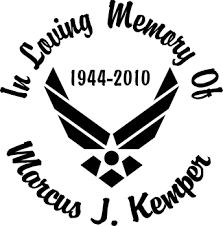 Air Force Full Color Flag Full Color Printed Stickers In Loving Memory Car Window Decals