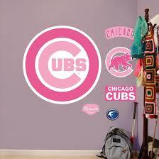 Pink Cubs Logo Fathead