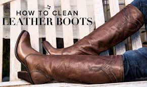 cleaning leather boots one country