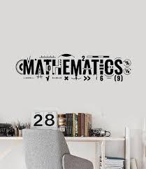 Vinyl Wall Decal Lettering Mathematics Math Symbols School Decor Stick Wallstickers4you