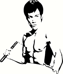 Bruce Lee W Nunchucks Vinyl Decal Graphic Choose Your Color And Size Bruce Lee Art Silhouette Art Silhouette Stencil