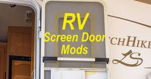 rv screen door modifications upgrades