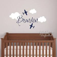 Custom Name Wall Sticker Kids Room Baby Nursery Airplane Name Wall Decal Cut Vinyl Stickers Personalized Children Name C12 Airplane Names Child Namesname Wall Stickers Aliexpress