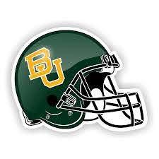 Baylor Bears Green Helmet Vinyl Die Cut Decal 4 Sizes