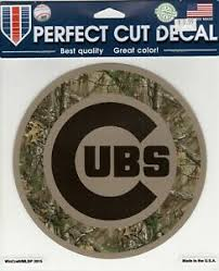 Chicago Cubs Camo 8 X 8 Perfect Cut Window Decal Wincraft Ebay