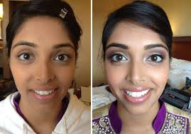 indian bridal makeup before after