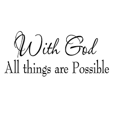 With God All Things Are Possible Faith Wall Decals Religious Quotes Fa