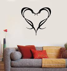 Amazon Com Wall Vinyl Animal Romantic Entwinted Snakes Heart Large Sticker Wall Art P666 Gold Metallic Home Kitchen