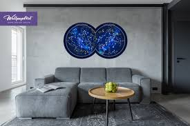 Removable Wall Mural Constellation Map Constellation Map Wall Etsy Removable Wall Murals Stick Wall Art Removable Wall