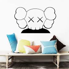 Amazon Com Vinyl Decal Quote Art Wall Sticker Mirror Decal Kaws Art For Kids Room Home Decors Living Room Anime Bedroom Decor Nursery Kitchen Dining