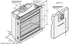 gas fireplace dimensions standard gas