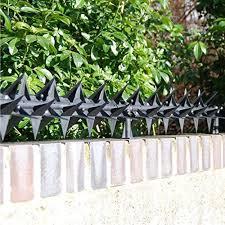 Stegastrip Fence Top Wall Spikes Garden Security Intruder Burglar Deterrent Anti Climb 5m Pack With Posts Amazon Co Uk Garden Outdoors