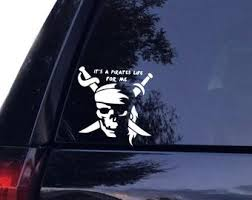 Pirate Car Decal Etsy