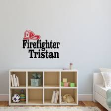 Personalized Name Fireman Wall Decal Custom Name Fireman Etsy
