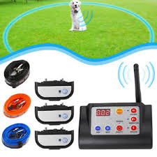 Wireless 1 2 3 Dog Containment Electric Fence Remote Training Shock Collar Ebay
