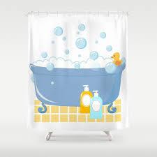 bubble bath tub shower curtain by