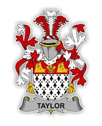 Taylor Family Crest Vinyl Die Cut Decal Sticker 4 Size
