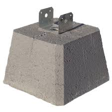 Unbranded Concrete Pier Block With Metal Bracket 8053112 The Home Depot