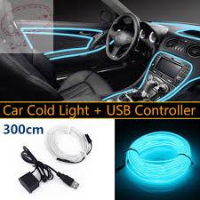 Dây đèn LED EL 3m trang trí nội thất ô tô tiện dụng