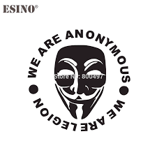 Newest Funny We Are Anonymous Mask Car Creative Decorative Auto Decal Cartoon Car Reflective Car Body Decal Pattern Vinyl Car Stickers Aliexpress