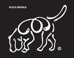 K Line Beagle Car Window Tattoo Decal Doggy Style Gifts