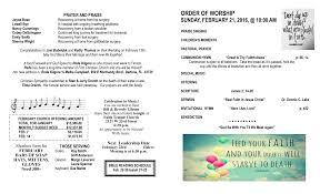 ORDER OF WORSHIP