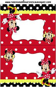 Minnie Rojo Etiquetas Para Candy Bar Para Imprimir Gratis