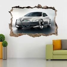 Bmw M Sports Interior Car 3d Smashed Wall Sticker Decal Decor Art Mural J893