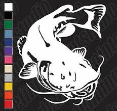 Catfish Vinyl Decal Sticker Fisher Angler Bass Fish Hunter Fisherman Window Ebay