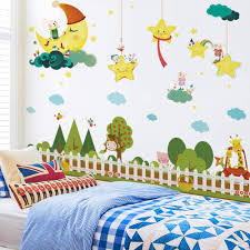 Wall Sticker Children S Room Layout Wall Stickers Creative Girl Bedroom Background Wall Decoration Stickers Bedside Personality Hanging Paintings Amazon Com