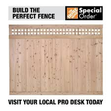 Unbranded 6 Ft X 8 Ft Cedar Square Lattice Top Fence Panel 310067 The Home Depot