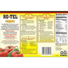 6 cans ro tel original diced tomatoes