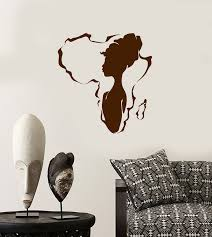 Vinyl Wall Decal African Girl Native Beauty Africa Continent Stickers Wallstickers4you