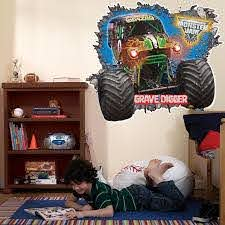 Check Out Monster Jam 3d Giant Wall Decals From Birthday In A Box Monster Jam Monster Truck Room Monster Truck Bedroom