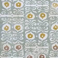 iznik tribal wallpaper in celadon