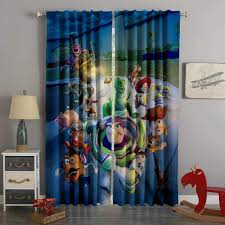 3d Printed Toy Story Style Custom Living Room Curtains Kids Room Curtains Toy Story Room Boys Bedroom Curtains