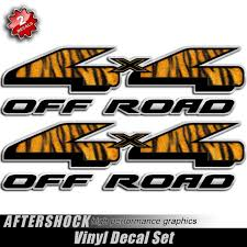 4x4 African Safari Tiger Decals Aftershock Decals