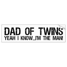 Dad Of Twins Bumper Sticker Zazzle Com Bumper Stickers Twin Quotes Twins