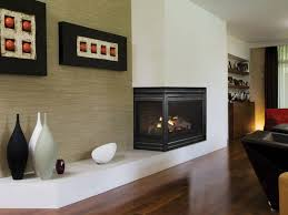 two sided corner gas fireplace gas
