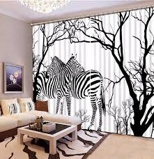 Modern Black And White 3d Curtains Animal Zebra Children Curtains For Living Room Bedroom Blackout Kids Room Curtains Curtains For Room Curtainscurtains For Living Room Aliexpress