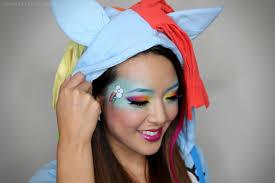 my little ponies rainbow dash makeup