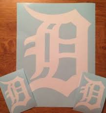 Detroit Tigers Old English D 3 Pack Vinyl Decal 12 2 4 Free Shipping Ebay