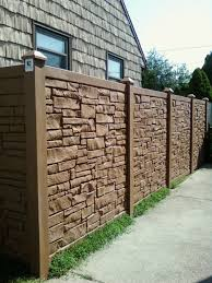 6 Desert Redwood Color Vinyl Stone Privacy Fence In 2020 Fence Design Garden Fence Panels Vinyl Privacy Fence