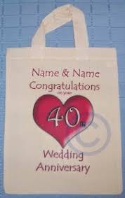 40th wedding anniversary gift bag ruby