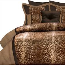 leopard animal print comforter set