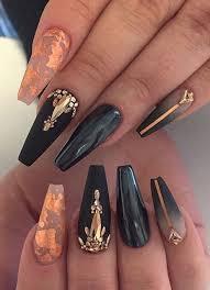 40 black acrylic nails