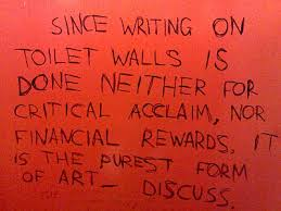 are written on the bathroom walls